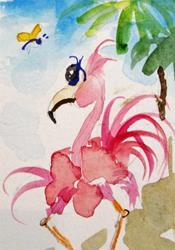 Art: Flamingo 10 by Artist Delilah Smith