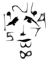 Art: Numberic Man white bg by Artist EPRobles