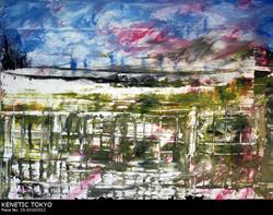 Art: Piece No 25 03102012   Kenetic Tokyo Acrylic by Artist EPRobles