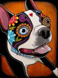 Art: Day of the dog, 18 x 24 pouces, Acrylique sur toile, 2016 by Artist Veronique Perron