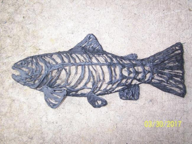 Art: Fiberglass Fish 24 by Leonard G. Collins by Artist Leonard G. Collins
