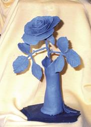 Art: Clay Roses in Clay Pot  by Leonard G. Collins by Artist Leonard G. Collins