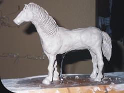 Art: Clay horse 12 17 by Artist Leonard G. Collins