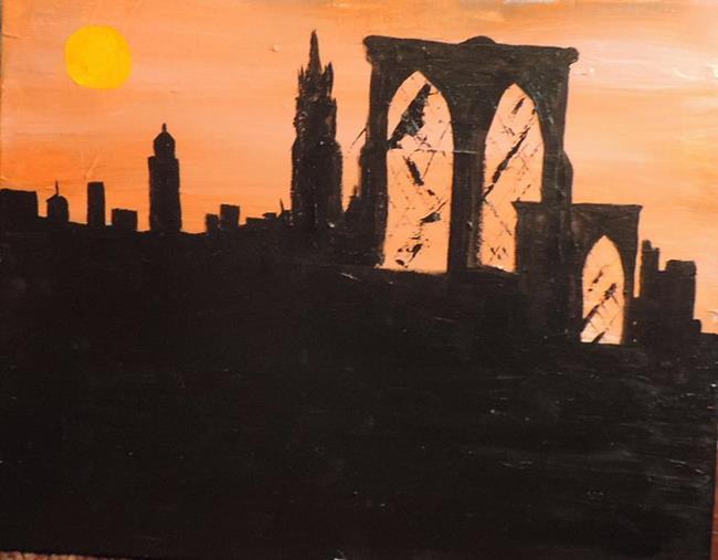 Art: New York heatwave by Artist Nancy Denommee