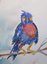 Art: Robin Red Breast by Artist Delilah Smith