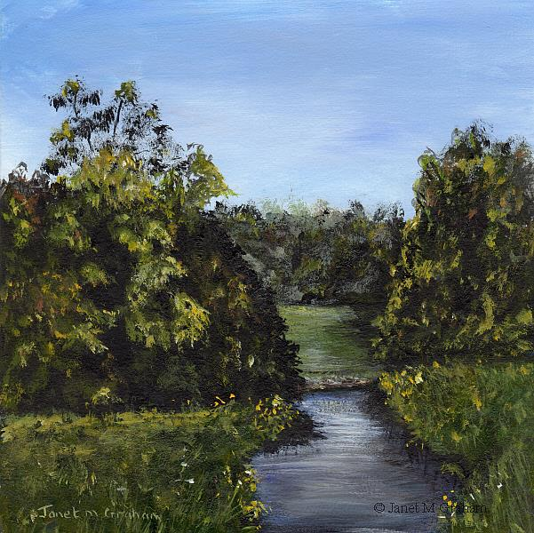 Art: Meadow Stream by Artist Janet M Graham