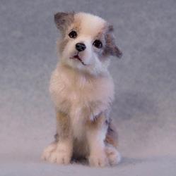 Art: Australian Shepherd Puppy by Artist Camille Meeker Turner