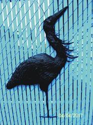 Art: Heron by Leonard G. Collins by Artist Leonard G. Collins