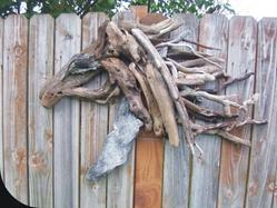 Art: Driftwood Horse Head by Leonard. Collins by Artist Leonard G. Collins