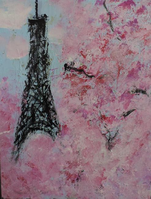 Art: april in paris by Artist Nancy Denommee
