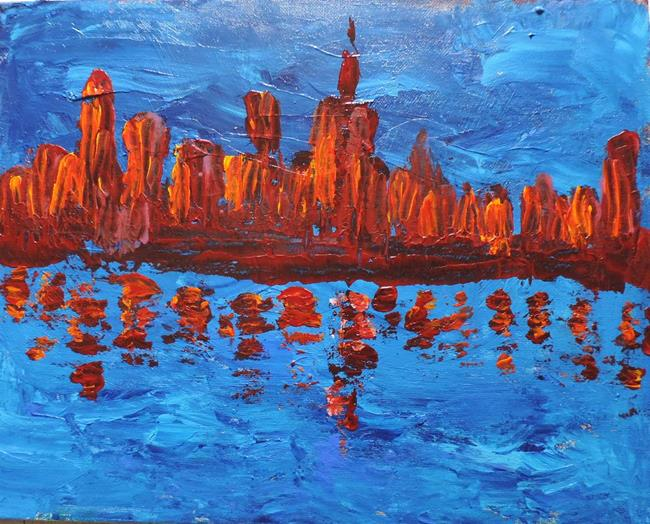 Art: paint the town red by Artist Nancy Denommee