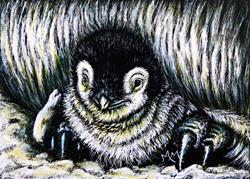 Art: Penguin Baby by Artist Monique Morin Matson