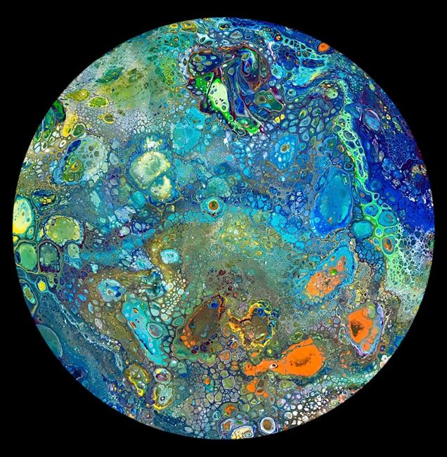 Art: Abstract Disc 18 by Artist Ulrike 'Ricky' Martin