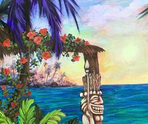 Detail Image for art LAUGHING TIKI 30X30