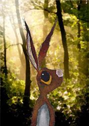 Art: A LITTLE LOST h2308 by Artist Dawn Barker