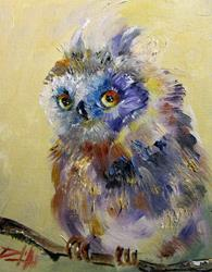 Art: Owl by Artist Delilah Smith
