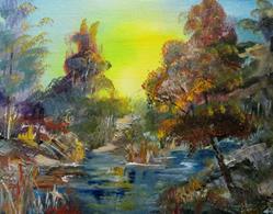 Art: Sunrise Stream by Artist Delilah Smith