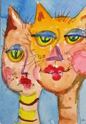 Art: Crazy Cats by Artist Delilah Smith