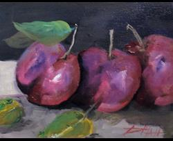 Art: Plums by Artist Delilah Smith
