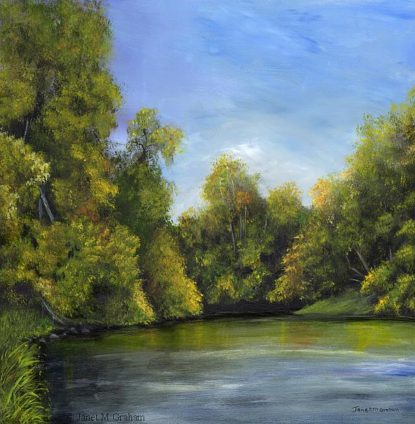 Art: Spring River 2 by Artist Janet M Graham