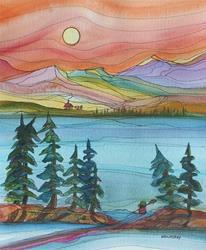 Art: Love of Life (sold) by Artist Kathy Crawshay