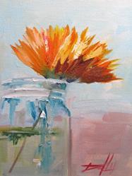 Art: Flower in a Jar by Artist Delilah Smith