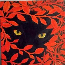 Art: WATCHING by Artist Rosemary Margaret Daunis