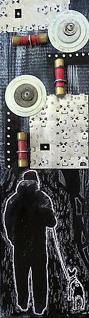 Art: Man & Dog #3 by Artist Vicky Helms