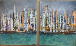 Art: City view by Artist MarikasPaintings