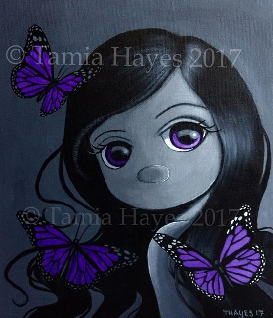Art: Something Violet by Artist Tamia Hayes