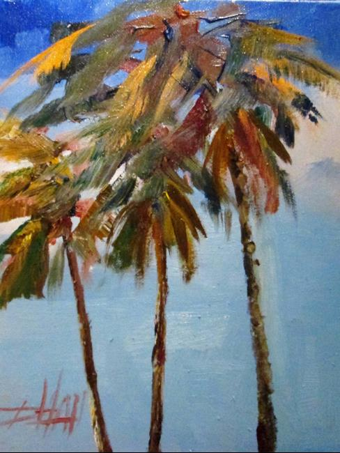 Art: Palm Tree by Artist Delilah Smith