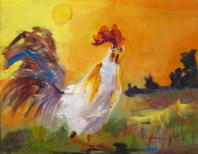 Art: Sunrise Rooster by Artist Delilah Smith