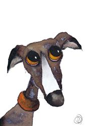 Art: LOVE FOR YOU G262 greyhound by Artist Dawn Barker