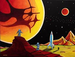Art: CANALS OF MARS by Artist  Bryan Ward