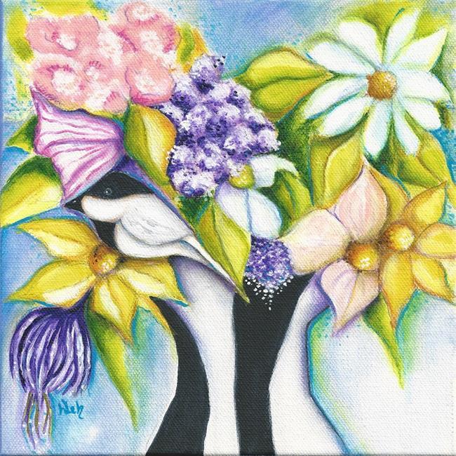 Art: APRIL FLOWERS by Artist Deb Harvey