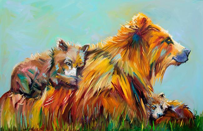 Art: All that Matters Bears by Artist Diane M Whitehead