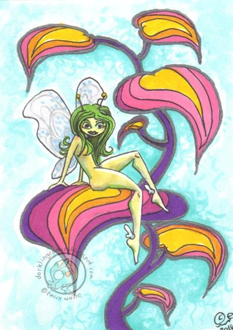 Art: Glowbug Fairy by Artist Emily J White