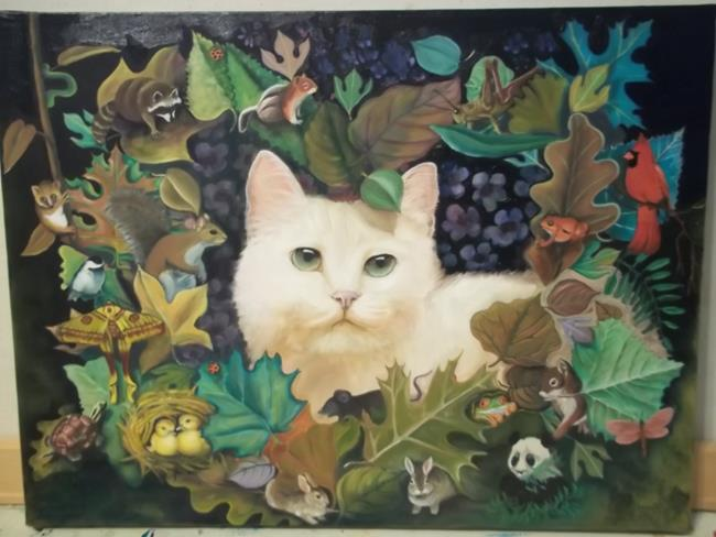 Art: FANTASY FOREST by Artist Rosemary Margaret Daunis