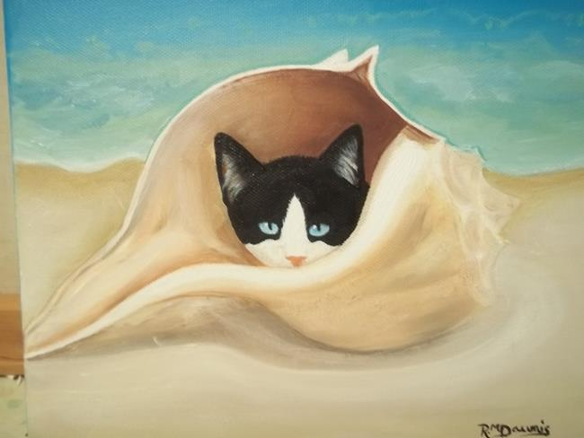 Art: TINIEST CAT IN THE WORLD by Artist Rosemary Margaret Daunis