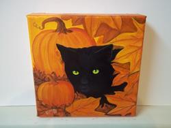 Art: AUTUMN CAT by Artist Rosemary Margaret Daunis