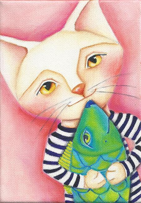 Art: Catch, Hug, Release by Artist Deb Harvey