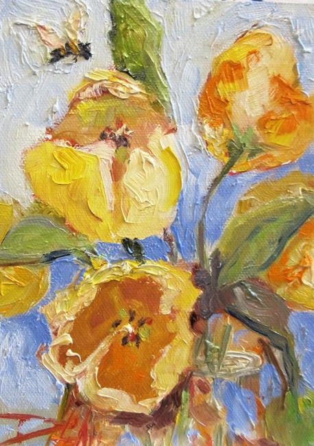 Art: Yellow Tulips-sold by Artist Delilah Smith