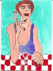 Art: STILL SMOKING by Artist Nancy Denommee