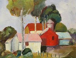 Art: House and Barn by Artist Delilah Smith