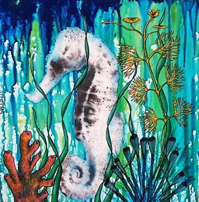Art: Seahorse (SOLD) by Artist Vicky Helms