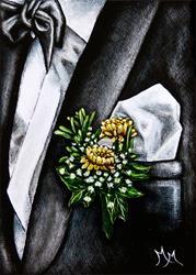 Art: Boutonniere by Artist Monique Morin Matson