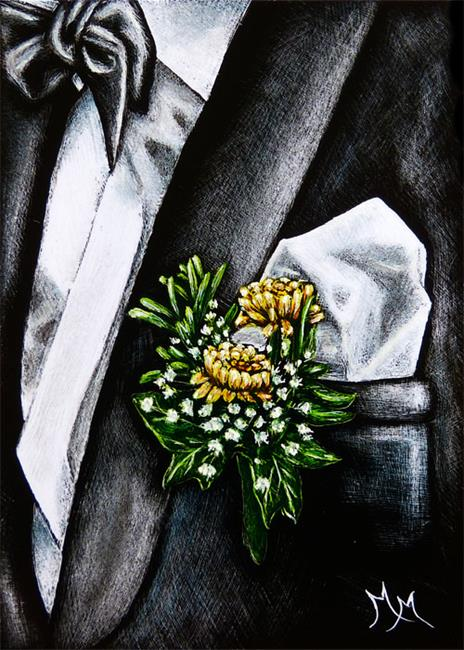 Art: Boutonniere  (SOLD) by Artist Monique Morin Matson