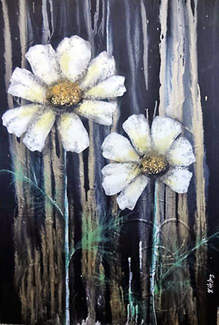 Art: Daisies (GIFTED) by Artist Vicky Helms