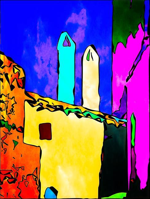 Art: Comic Chimneys by Artist Deanne Flouton