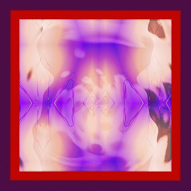 Art: Magenta Beige Frame by Artist Deanne Flouton